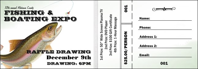 Fishing and Boating Expo Raffle Ticket