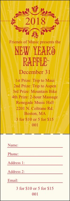 Year Gold Semi-Formal Raffle Ticket