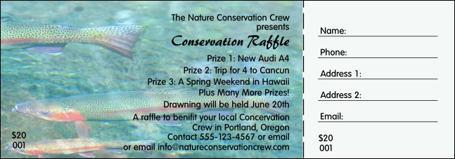 Nature Series - Trout Raffle Ticket