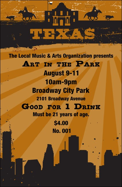 Texas Drink Ticket 002