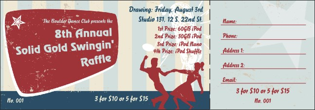 Swing Dance Raffle Ticket