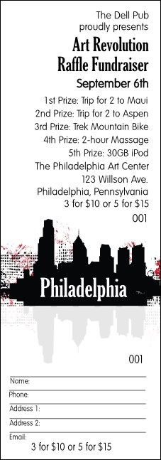 Philadelphia raffle ticket