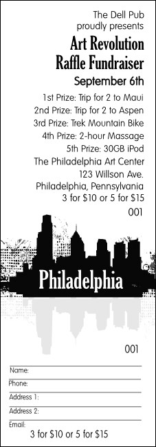 Philadelphia BW raffle ticket