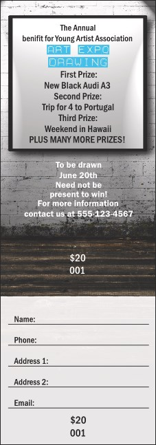 Fine Art Raffle Ticket