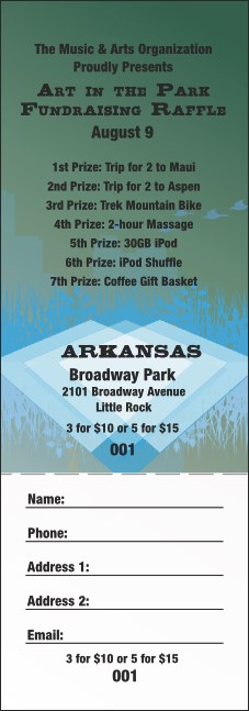 Arkansas Raffle Ticket