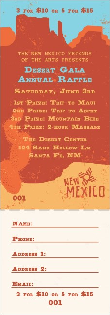 new mexico raffle ticket