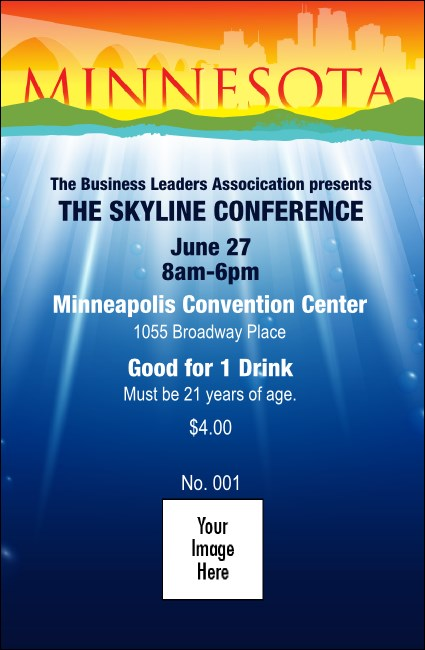 Minnesota Drink Ticket Product Front
