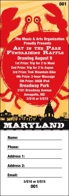 Maryland Raffle Ticket