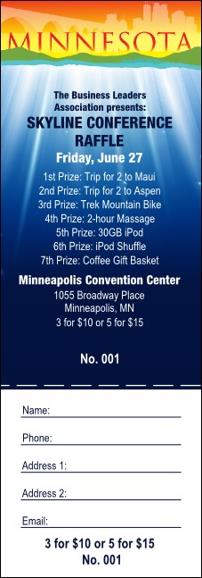 Minnesota Raffle Ticket