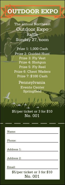 Sportsman's Expo Raffle Ticket
