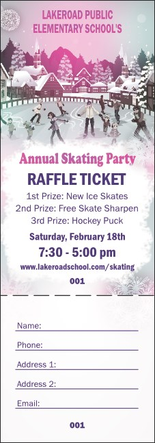 Skating Party Raffle Product Front