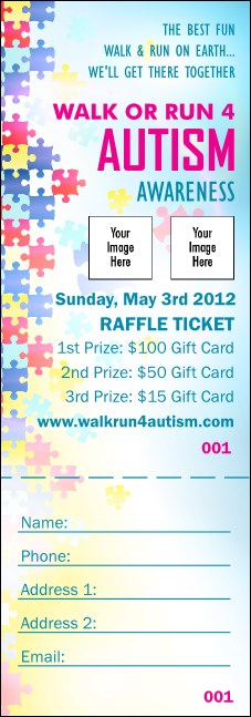 Autism Awareness Raffle Ticket