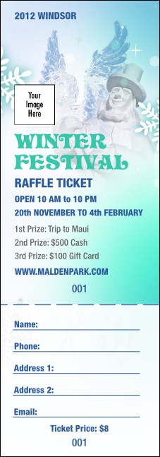 Winter Festival Raffle Ticket