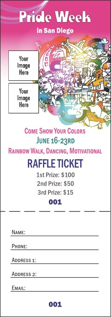 LGBT Pride Raffle Ticket