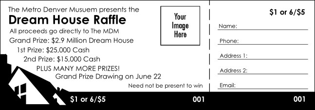 Dream House Raffle Ticket Product Front