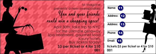 Shopping Spree Raffle Ticket