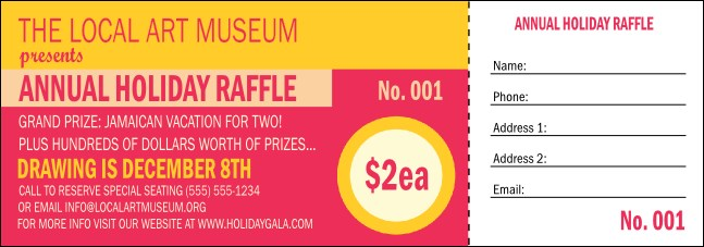 Circle Gala Raffle Ticket Product Front