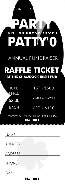 St. Patrick's Day Plaid Raffle Ticket