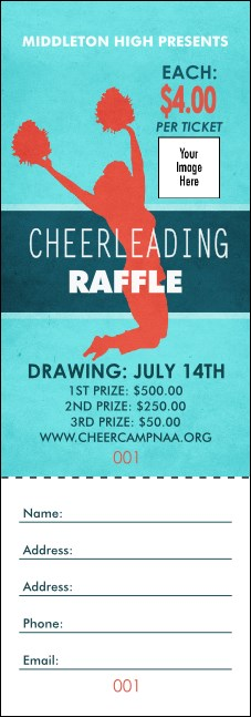 Cheerleading Jump Raffle Ticket
