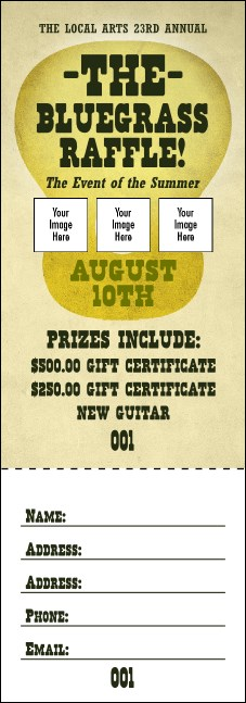 Guitar and Banjo Raffle Ticket Product Front