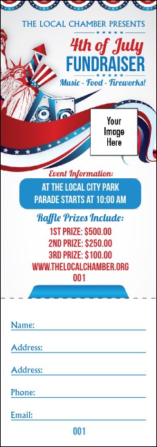 Fourth of July Freedom Raffle Ticket
