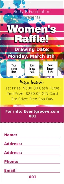 Women's Expo Abstract Raffle Ticket