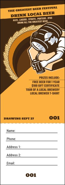 Beer Festival - Artisan Raffle Ticket