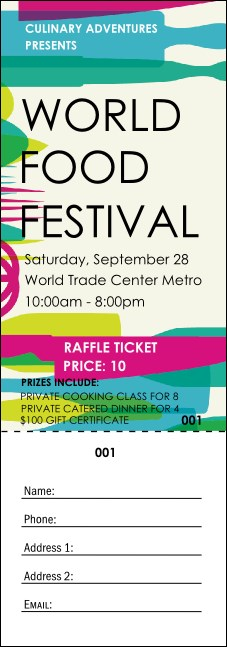 World Food Festival Raffle Ticket