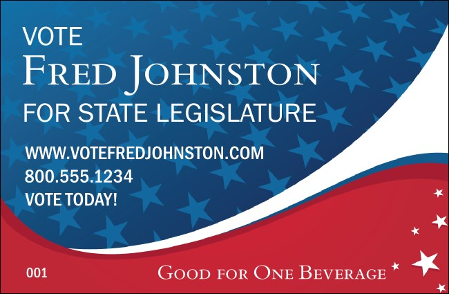 Patriotic Vote Drink Ticket