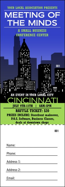 Cincinnati Skyline Raffle Ticket Product Front