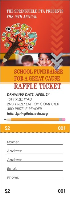 Fundraiser for Education Raffle Ticket
