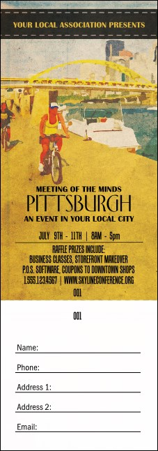 Pittsburgh 2 Raffle Ticket
