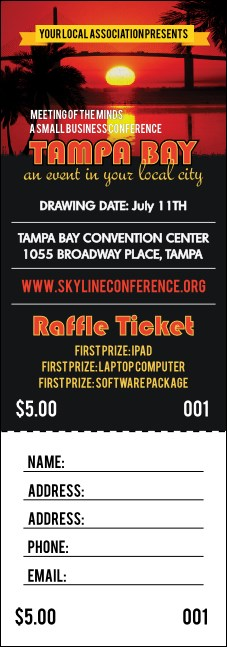 Tampa Bay Sunset Raffle Ticket