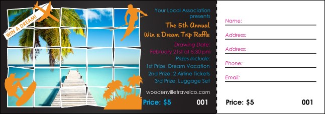 Win a Vacation Raffle Ticket