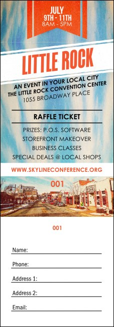Little Rock Raffle Ticket