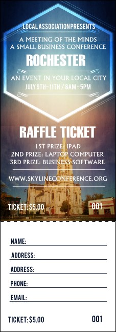 Rochester 2 Raffle Ticket Product Front
