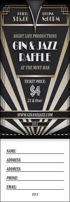 Roaring 20s Raffle Ticket Product Front