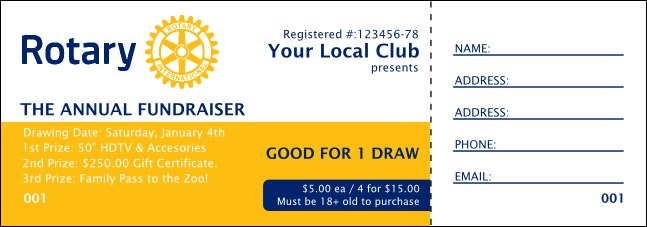 Rotary Club Raffle Ticket 2