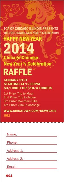 Chinese New Year Raffle Ticket