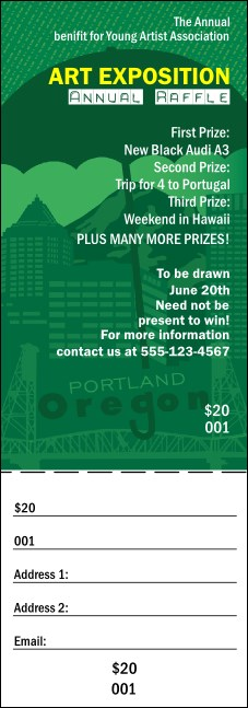 Portland Raffle Ticket