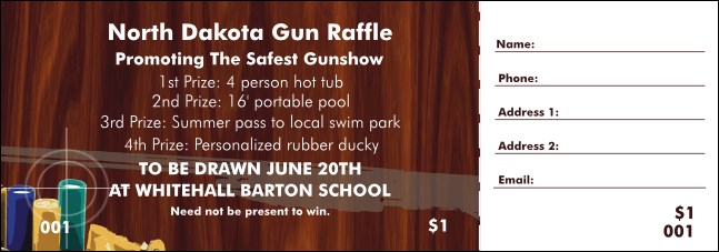 Gun Raffle Ticket Product Front
