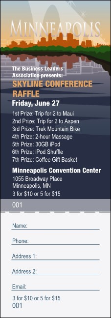 Minneapolis Raffle Ticket Product Front