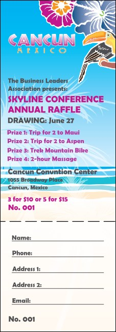 Cancun Raffle Ticket