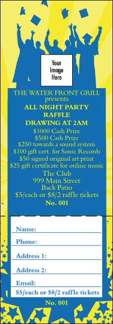 Bright Ideas Graduation Raffle Ticket 001