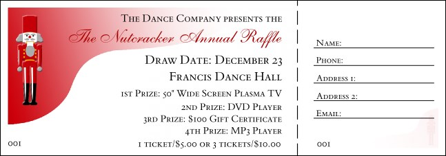 Nutcracker Raffle Ticket 001