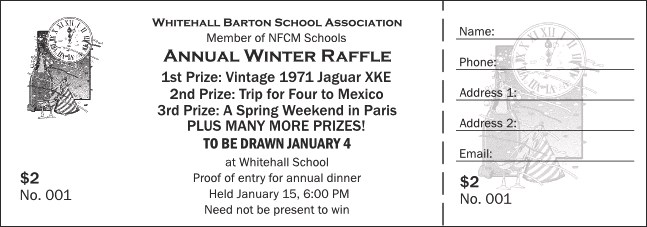 Black and White New Year's Raffle Ticket 001 Product Front