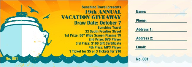 Cruising Raffle Ticket Product Front