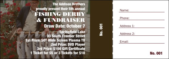 Fishing Derby Raffle Ticket