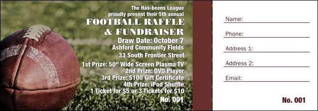 Football Raffle Ticket 001