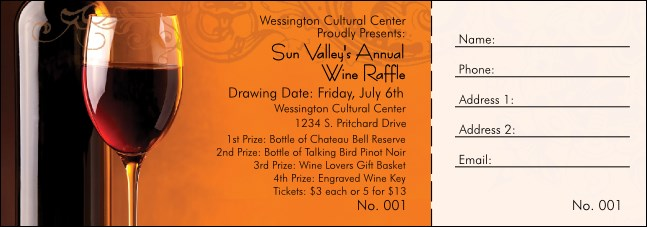 Wine Raffle Ticket Product Front
